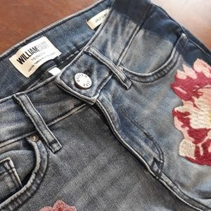 """William Rast""  Floral  Ankle Skinny jeans"